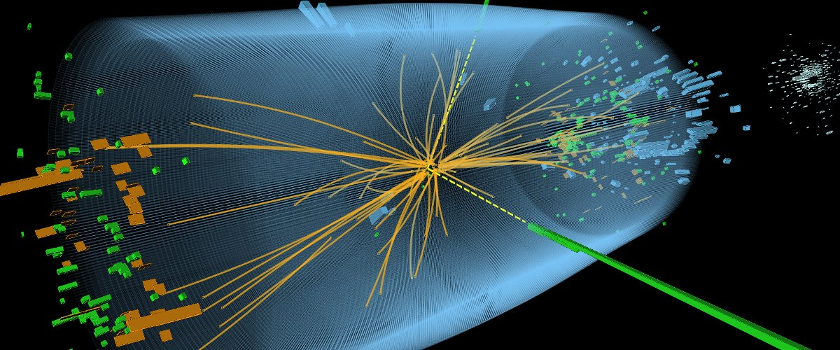 Simulated event at the LHC